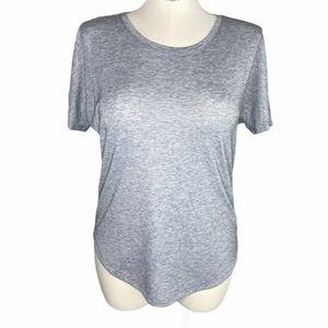 Lucy Heathered Gray Tunic Short Sleeve Tee sz L